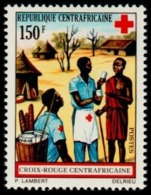 Central African Republic 1972 MNH, Red Cross, First Aid, Medicine Help - Rotes Kreuz