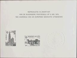 Bélgica. (*)Yv 1886/87. 1978. Serie Completa. HOJITA MINISTERIAL. MAGNIFICA. (COB 1891/92, 175 Euros) - Bélgica