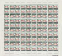 Bélgica. MNH **Yv 1423/24A(100). 1967. Serie Completa, En Pliegos De Cien Sellos. PAPEL FOSFORESCENTE. MAGNIFICA Y MUY R - Bélgica