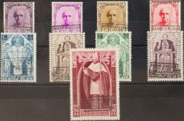 Bélgica. (*)Yv 374A/K. 1933. Serie Completa. MAGNIFICA Y RARA. Yvert 2014: 2.100 Euros. - Bélgica