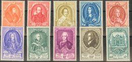 Bélgica. MH *Yv 880/91. 1952. Serie Completa. MAGNIFICA. Yvert 2014: 200 Euros. - Bélgica
