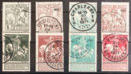 Bélgica. ºYv 92/99. 1911. Serie Completa. MAGNIFICA. Yvert 2011: 200 Euros. - Bélgica