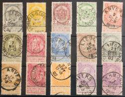 Bélgica. ºYv 53/67. 1893. Serie Completa. MAGNIFICA. Yvert 2011: 145 Euros. - Bélgica