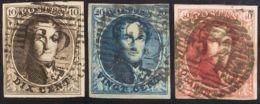 Bélgica. ºYv 3/5. 1849. Serie Completa. Amplios Márgenes Y Buen Color. MAGNIFICA. Yvert 2011: 720 Euros. - Bélgica