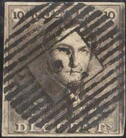 Bélgica. ºYv 1. 1849. 10 Cts Castaño Negro. MAGNIFICO. Yvert 2011: 100 Euros. - Bélgica