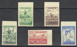 Bélgica. (*)Yv 827/31. 1950. Serie Completa. SIN DENTAR Y SOBRECARGA SPECIMEN. MAGNIFICA Y RARA. (Cob 827/31 250 Euros) - Bélgica