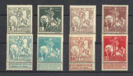 Bélgica. MNH **Yv 84/91. 1910. Serie Completa. MAGNIFICA. Yvert 2011: 110 Euros. - Bélgica