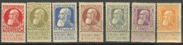 Bélgica. MH *Yv 74/80. 1905. Serie Completa. MAGNIFICA. Yvert 2011: 450 Euros. - Bélgica