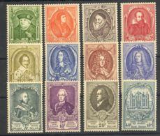 Bélgica. MH *Yv 880/91. 1952. Serie Completa, Goma No Original. BONITA. Yvert 2011: 200 Euros. - Bélgica