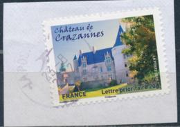 France - Châteaux Et Demeures II (Crazannes) YT A729 Obl. Cachet Rond Manuel Sur Fragment - Francia