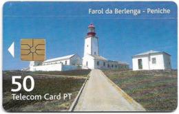Portugal - PT - Farol Da Berlenga - Peniche - PT297 - 12.000ex, 02.2001, Used - Portugal