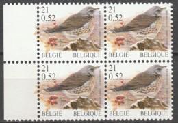 Belgie  .   OBP  .    2987P8a  Bloc De 4     .    **    .  Postfris  .   /   .  Neuf SANS Charniere - Feuillets