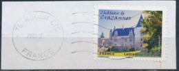 France - Châteaux Et Demeures II (Crazannes) YT A729 Obl. Ondulations Et Dateur Rond Sur Fragment - Francia