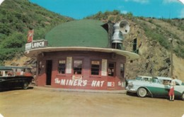 Kellogg Idaho, The Miner's Hat Restaurant Lunch Stand Roadside Americana, Auto Mining Theme, C1950s Vintage Postcard - Etats-Unis