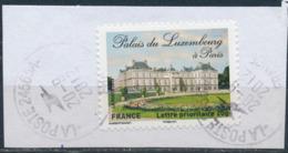 France - Châteaux Et Demeures II (Palais Du Luxembourg) YT A730 Obl. Cachet Rond Manuel Sur Fragment - Francia