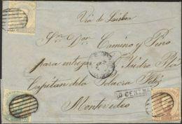 España. Amadeo I. Amadeo I. (Un Sello Defectuoso, Sin Importancia). MAGNIFICA Y RARO DESTINO Y COMBINACION. - 1872-73 Reino: Amadeo I