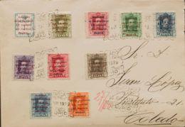 España. Alfonso XIII Correo Certificado. Sobre 455/64. 1929. Del 1 Cts Al 50 Cts. Certificado De MADRID A TOLEDO. Matase - 1889-1931 Reino: Alfonso XIII