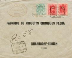 España. Alfonso XIII Correo Certificado. Sobre 317(2), 275. 1905. 25 Cts Carmín, Dos Sellos Y 30 Cts Verde De Medallón. - 1889-1931 Reino: Alfonso XIII
