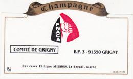 Etiquette Champagne FNACA COMITE DE GRIGNY 91 / Philippe MIGNON - Le Breuil (51) / 75 Cl - Champagne