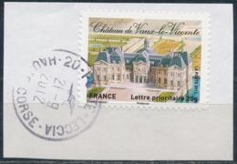 France - Châteaux Et Demeures II (Vaux Le Vicomte) YT A731 Obl. Cachet Rond Manuel Sur Fragment - Francia