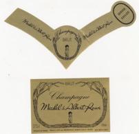 Etiquette Champagne BRUT Michel & Albert Roux / Philipponnat à Mareuil-sur-Ay (51) / 37.5 Cl (2 Pièces) - Champagne