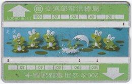 TAIWAN A-342 Hologram Telecom - Cartoon, Animal, Frog - 342A - Used - Taiwan (Formosa)