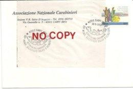 Carpi, 30.5.1993, Annullo Settimana Del Carabiniere, Anniversario Sacrificio Salvo D'Acquisto Su Busta Intestata. - Italy
