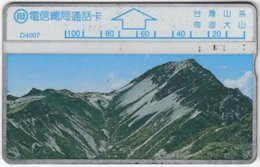 TAIWAN A-365 Hologram Telecom - Landscape, Mountains - 424D - Used - Taiwan (Formosa)