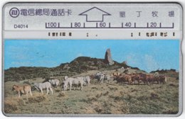TAIWAN A-367 Hologram Telecom - Animal, Goat - 445C - Used - Taiwan (Formosa)