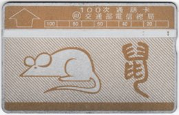 TAIWAN A-410 Hologram Telecom - Chinese Horoscope, Rat - 910W - Used - Taiwan (Formosa)