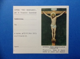 Santino Holy Card Image Pieuse Maria Opera Pro Seminario Ugento Gesu' Crocifisso - Santini