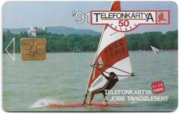 Hungary - Matáv - Balaton Surf (No Moreno/Gemplus Symmetric Black) 06.91, Used - Hongrie