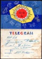 POLAND 1961 TELEGRAM SPECIAL OCCASION SIGNS OF ZODIAC SHINING SUN USED LX 18 TÉLÉGRAMME TELEGRAMM TELEGRAMA TELEGRAMMA - Astrology