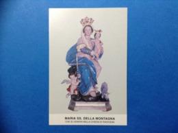 Santino Formato Cartolina Holy Card Image Pieuse Maria SS Della Montagna Radicena - Santini