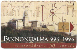 Hungary - Matáv - Pannonhalma - 07.1996, 50.000ex, Used - Hongrie