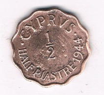 1/2 PIASTRE 1944 CYPRUS /8590/ - Cyprus