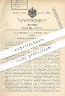 Original Patent - J. E. L. Pelletier , G. F. Monier , Paris , Frankreich 1906 , Hantel | Gewicht , Hantelgewicht | Sport - Historische Dokumente