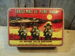 Ancienne Boite Publicitaire Biscuits Bretons Traou Mad De Pont-Aven - Boîtes