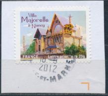 France - Châteaux Et Demeures II (Nancy) YT A737 Obl. Cachet Rond Manuel Sur Fragment - Francia