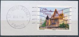 France - Châteaux Et Demeures II (Nancy) YT A737 Obl. Ondulations Et Dateur Rond Sur Fragment - Francia