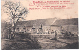 Stall Gebäude Auf Rittergut Domäne RHINOW Bei Rathenow Werbung Isolierdecke Aus Bonn Beuel Am Rhein Belebt 1907 - Rathenow