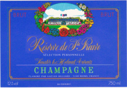 Lot De 2 Etiquettes Champagne Réserve De Ste-Preuve (02) Sélection Personnelle Sentor H.c. Helmut Aurenz / 750 Ml - Champagne