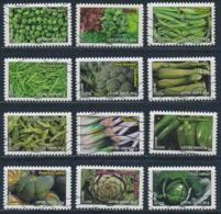France - Légumes YT A739-A750 Obl. Ondulations - Francia