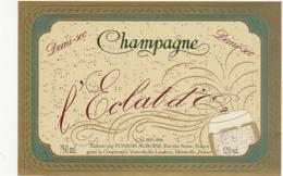 Etiquette Champagne Demi-Sec L'Eclat D'Or - UNION AUBOISE à Bar-sur-Seine (10) / 750 Ml - Champagne