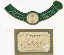 Etiquette Champagne Demi-Sec L'Eclat D'Or - UNION AUBOISE à Bar-sur-Seine (10) / 750 Ml (2 Pièces) - Champagne
