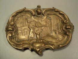 Ancien Vide-Poche Cendrier Bronze Forgeron Métier Forge. - Altri