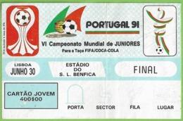 Lisboa - Estadio Da Luz - Bilhete - Portugal - Brasil - Ticket - Billet - Futebol - Futebol - Stadium - Coca-Cola - Tickets - Entradas