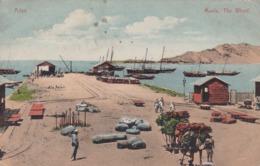 ADEN - MAALA, THE WHART. YEMEN. POSTALE CPA CIRCULEE 1914 A BUDAPEST -LILHU - Yemen