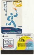 "SOUTH KOREA - 97"" Winter Universiade Muju-Chonju(reverse Letter W, W3000), 07/96, Used - Corée Du Sud"
