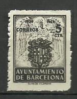 Barcelona 1944 Edi:ES BA 59 ** Mnh - Barcelona